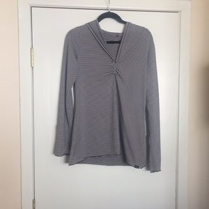 L Prana Hooded Shirt